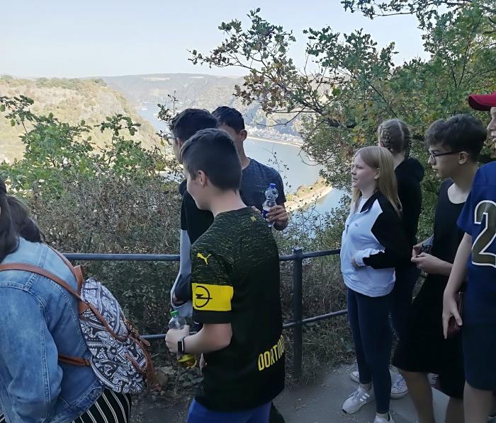 Blick von der Loreley auf den Rhein